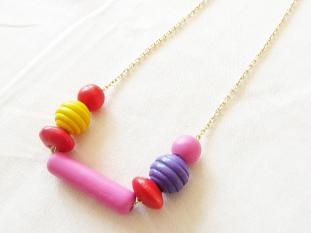 LOLLIPOP Necklace wooden beads